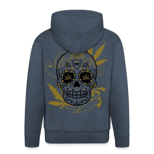 Skull Weed  - Veste à capuche Premium Homme