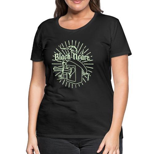 Black Heart glow in the dark - Women's Premium T-Shirt