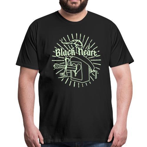 Black Heart glow in the dark - Men's Premium T-Shirt