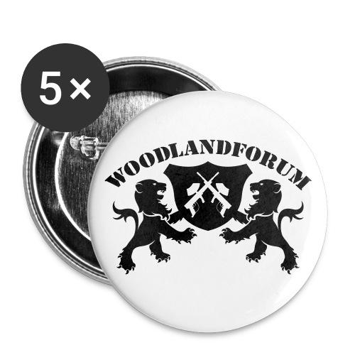Wlf Button (5) - Buttons mittel 32 mm (5er Pack)