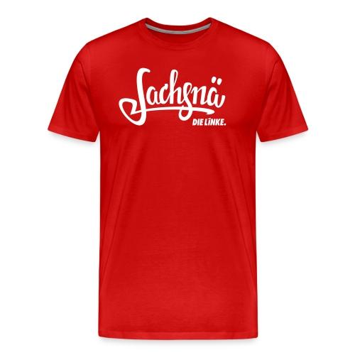 Sachsnä: Das Shirt zum Dialekt mit Logo - Männer Premium T-Shirt