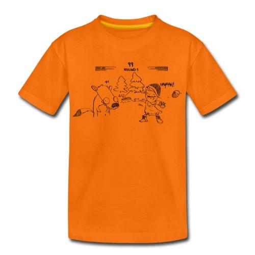 Rotkäppchen & böser Wolf - Teenager Premium T-Shirt