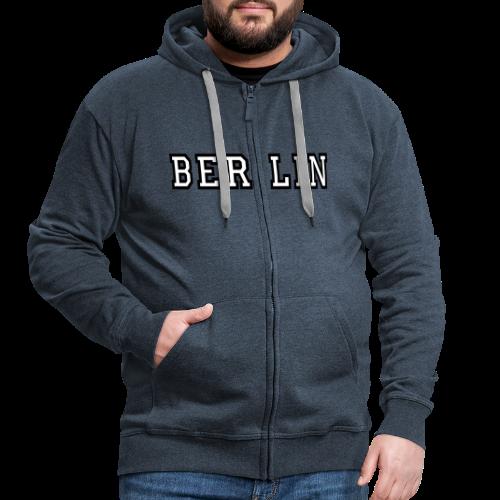 Berlin Kapuzenjacke Weiß/Schwarz - Männer Premium Kapuzenjacke