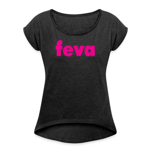 Ladies T-Shirt with Rolled Up Sleeves - Women's T-Shirt with rolled up sleeves