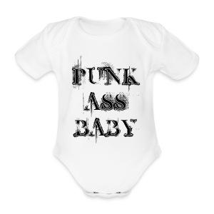 punk ass baby romper - Baby bio-rompertje met korte mouwen