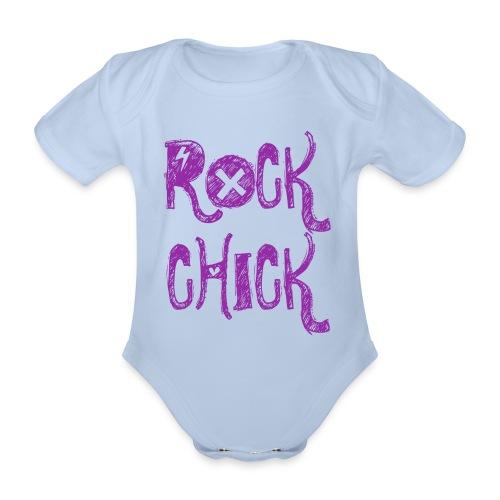 rock chick romper - Baby bio-rompertje met korte mouwen