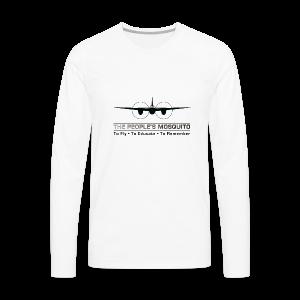Men's Motto Long-sleeve Shirt - White - Men's Premium Longsleeve Shirt