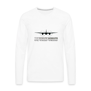 Men's Motto Long-sleeve Shirt - White - Men's Premium Longsleeve Shirt