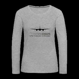 Women's Motto Long-sleeve Shirt - Grey - Women's Premium Longsleeve Shirt