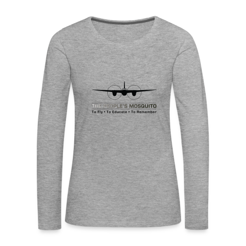 Women's Motto Long-sleeve Shirt - Grey - Women's Premium Longsleeve Shirt