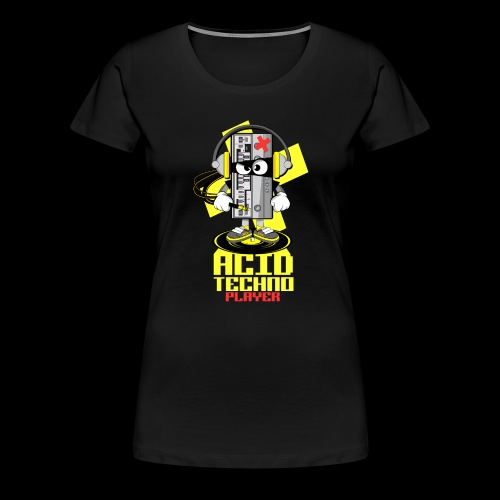 ACID ACID TECHNO PLAYER - Women's Premium T-Shirt
