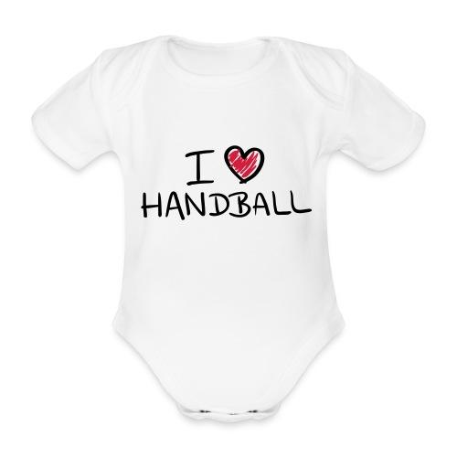 Baby-body - I love handball - Ekologisk kortärmad babybody
