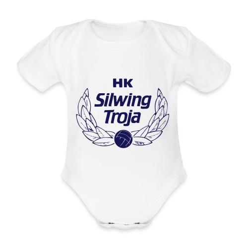 Baby-body Silwing-logo - Ekologisk kortärmad babybody