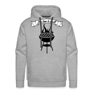 The king of the grill - Sweat-shirt à capuche Premium pour hommes