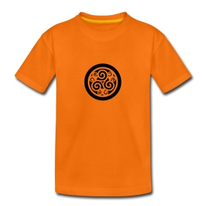 Triskell celte t-shirt orange ado - T-shirt Premium Ado