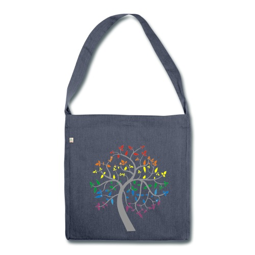 Magic Rainbow Tree - Shoulder Bag made from recycled material