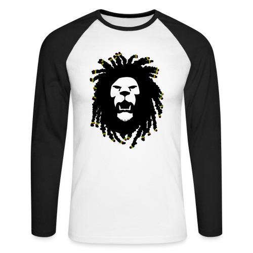 Rasta Lion - Men's Long Sleeve Baseball T-Shirt