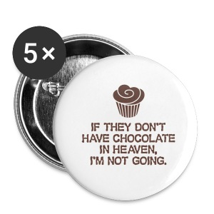 Chocolate Brooches - Buttons small 25 mm