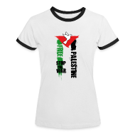 Tee shirts ~ Tee shirt contraste Femme ~ Free Palestine