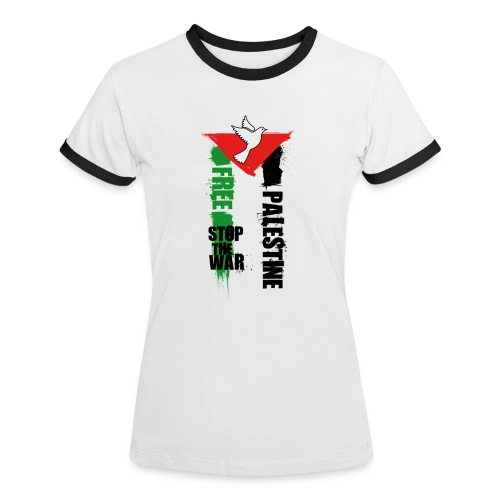 Free Palestine - T-shirt contrasté Femme