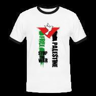 Tee shirts ~ Tee shirt contraste Homme ~ Free Palestine