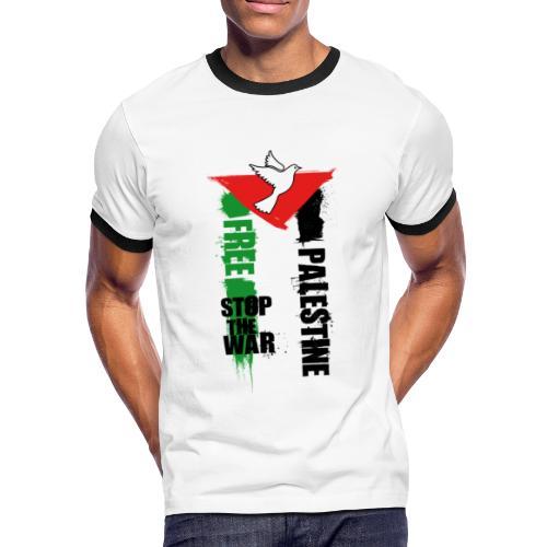 Free Palestine - T-shirt contrasté Homme