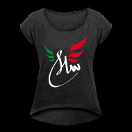Tee shirts ~ T-shirt Femme à manches retroussées ~ Peace Salam Paix