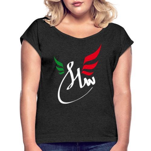 Peace Salam Paix - T-shirt à manches retroussées Femme