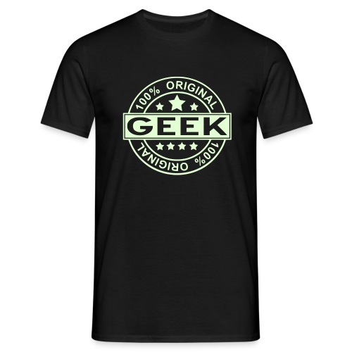 100 % GEEK glow in the dark Man - Men's T-Shirt