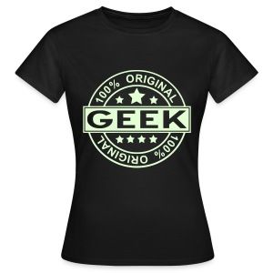 100 % GEEK glow in the dark Woman - Women's T-Shirt
