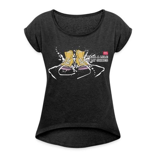 Tee-shirt Walk a Mile  - T-shirt à manches retroussées Femme