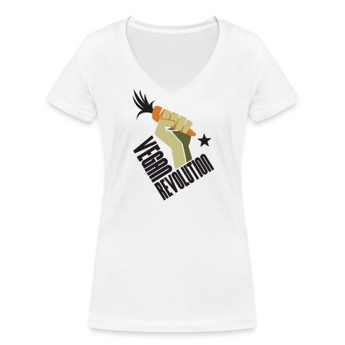 Vegan Revolution #1 - T-shirt ecologica da donna con scollo a V di Stanley & Stella