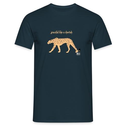 graceful like a cheetah - Männer T-Shirt - Männer T-Shirt