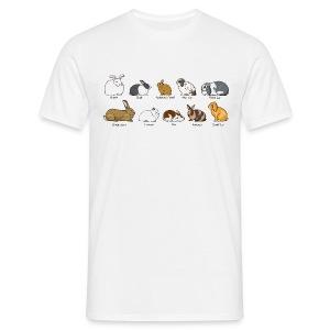 Popular Rabbit Breeds - Men's T-Shirt