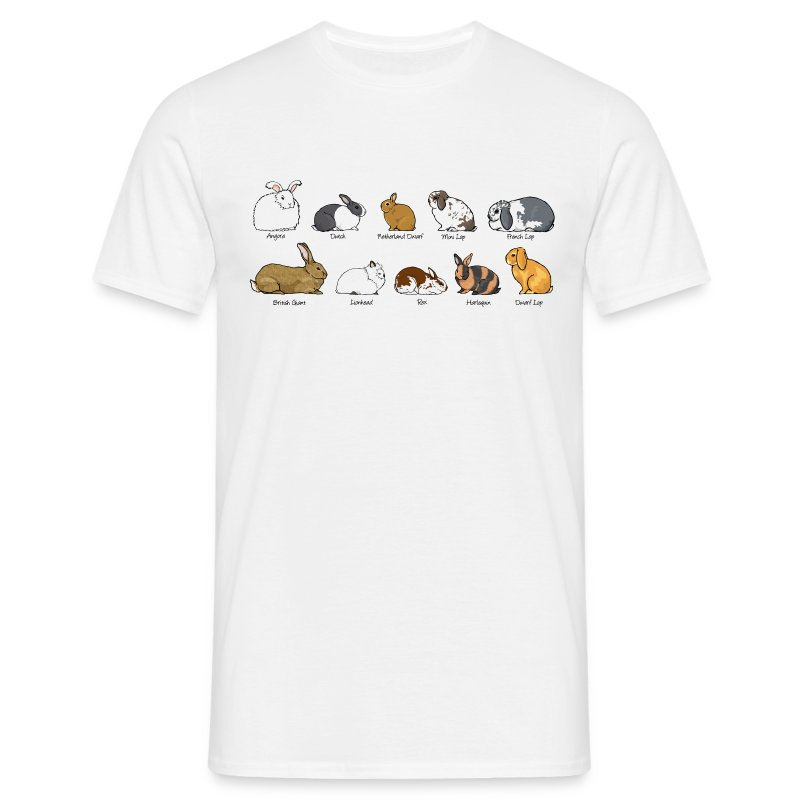 Popular Rabbit Breeds - Men's T-Shirt