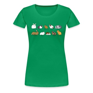Popular Rabbit Breeds - Women's Premium T-Shirt