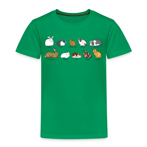Popular Rabbit Breeds - Kids' Premium T-Shirt