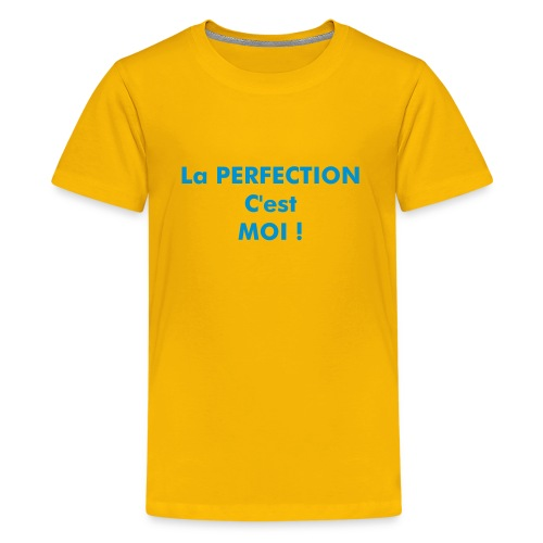 TS JAUNE ADO LA PERFECTION MOI  - T-shirt Premium Ado