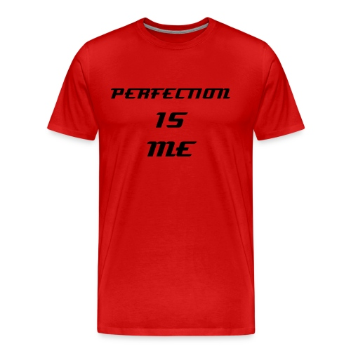 TS ROUGE HOMME PERFECTION IS ME - T-shirt Premium Homme