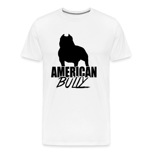 Men T-Shirt American Bully Black Logo - Men's Premium T-Shirt