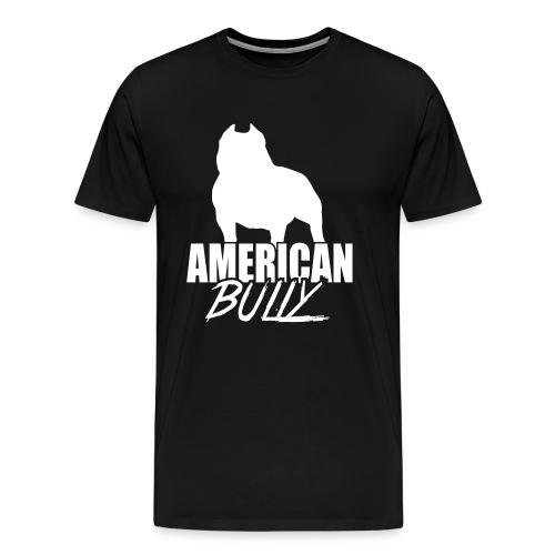 Men T-Shirt American Bully White Logo - Men's Premium T-Shirt
