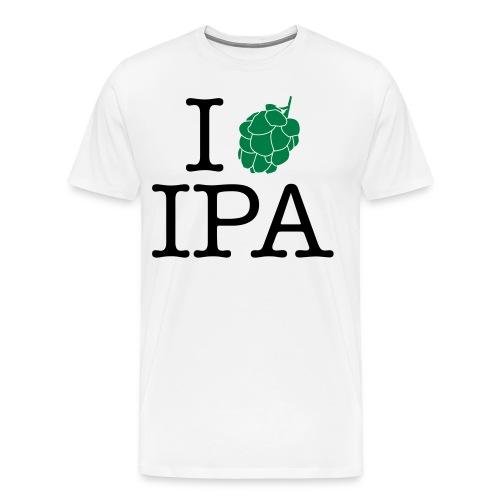 I love IPA white - Männer Premium T-Shirt