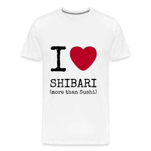 I love Shibari (more than Sushi) - Männer Premium T-Shirt