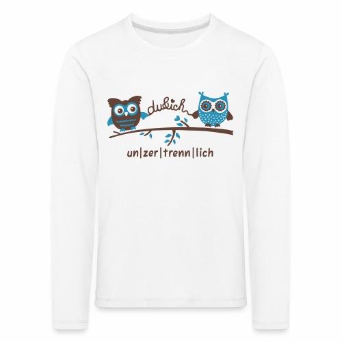 Du und Ich, Eulen, unzertrennlich, Tiere - Kinder Premium Langarmshirt