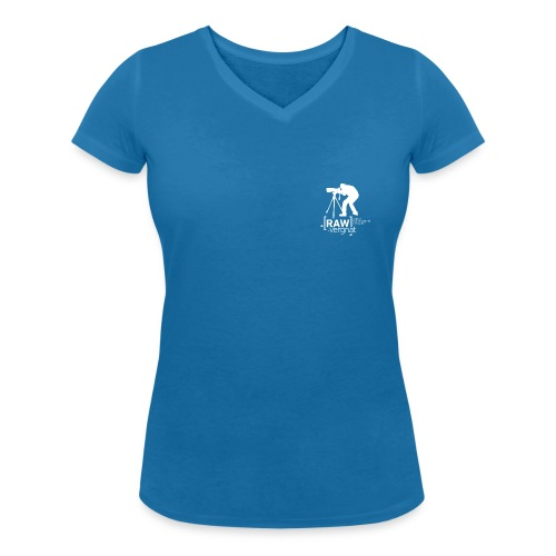 Tee-Shirt Col V Petit logo RAWvergnat Femme - T-shirt bio col V Stanley & Stella Femme