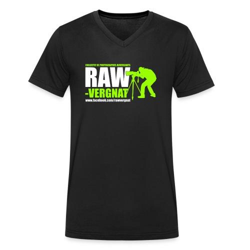 Tee-Shirt Col V grand logo RAWvergnat Homme - T-shirt bio col V Stanley & Stella Homme