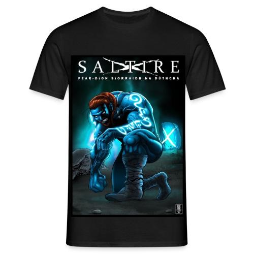 Saltire Ionnsaigh Gaelic Tshirt Mens - Men's T-Shirt