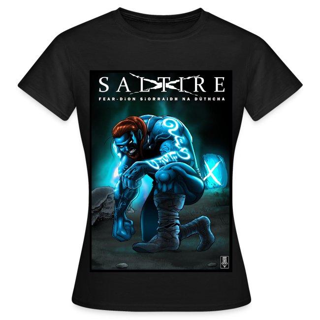 Saltire Ionnsaigh Gaelic Tshirt Women
