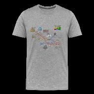 T-Shirts ~ Men's Premium T-Shirt ~ A146 Grey tshirt