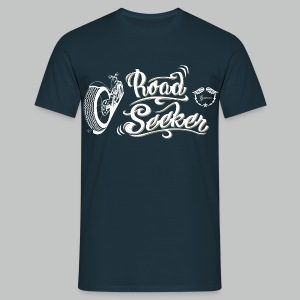 Road Seeker V Twin - White/Beige logo - Men's T-Shirt